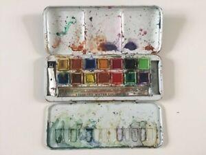 Vintage Watercolour Paint Box Tin Page London
