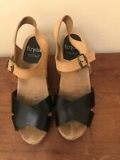 Funkis Leather Clog Sandals 37