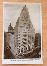 paramount theatre building new york vintage post card 1930's