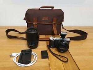 Samsung NX500 28.2MP Digital Camera - Black with 16-50mm & 50-200mm OIS lens's