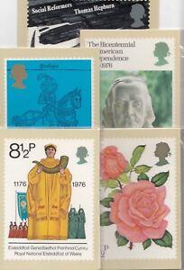 GB 1976 - Mint PHQ Cards