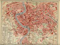 1902 ROMA Lazio ITALIA = Rome Italy Antica MAPPA Topografica OLD MAP