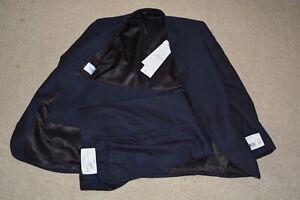 Men's Navy Blue Pinstripe Suit CALVIN KLEIN Mabry NWT Jacket:38S/Pants:31 $650