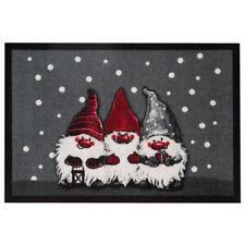 Tapis de pied paillasson Noël Noël 3 Nains Gris 40x60 cm