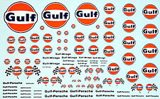 Gulf Sponsoren Bogen No.6 - 1:18 Decal Abziehbilder