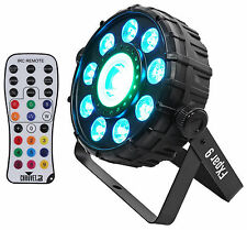 Chauvet DJ FX Par 9 DMX Multi-Effect LED, SMD RGB+UV Strobe Par Light + Remote