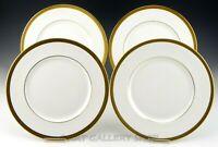 "Royal Doulton England H 4980 ROYAL GOLD 10-5/8"" DINNER PLATES Set of 4"