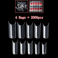 2000 PCS Clear Color Well Less Nail Tips C Curve Shape Acrylic UV Gel False Set