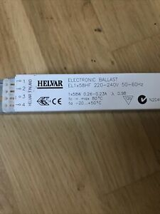 HELVAR ELECTRICAL Fluorescent BALLAST EL1x58HF High Frequency