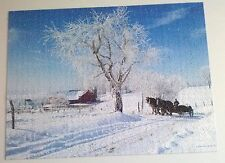 "Amish Country Jigsaw Puzzle ""Winters Work"" 1000 pieces Limited Edition-Complete"