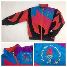Vintage 90's Starter 1996 Atlanta Olympics Collection FLAME Jacket Medium RARE