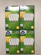 Sweet 16 Pack LED 100W = 14W Soft White 100 Watt Equivalent A19 2700K light bulb