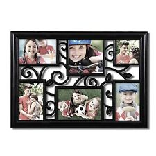 Adeco 6-Opening Multi Sizes Black Plastic Wall Collage Picture  Frames