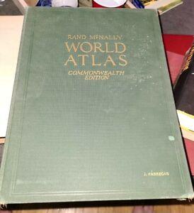 Antique 1927 Book Rand Mcnally World Atlas Commonwealth Edition