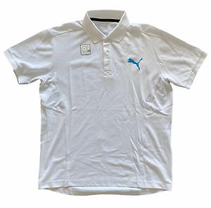 Puma Mens Polo Shirt Casual Lifestyle Polo Shirt - White - New