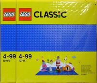 LEGO Classic Creator 2 x 10714 Bauplatte blau Grund-Platte 25x25 cm 32 Nopp NEU