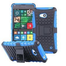 Microsoft LUMIA 640 Dual 640 LTE Hybrid Outdoor Case Anti Shock Cover Silicone Protection Pouch Bumper Blue 23020305