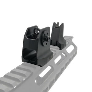Tactical Rail Mount Fixed Front Iron Sight Weaver Picatinny 20mm Rail Hunting