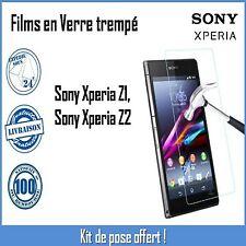 Vitre Film de protection en verre Trempé, écran incassable Sony Xperia Z1 et Z2