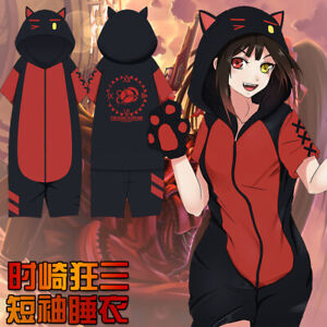 Anime DATE A LIVE Tokisaki Kurumi Short Sleeve Pajamas Sleepwear Leisure Wear