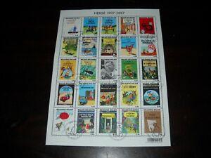 [LF6491] Belgium N°BL143 Comics Tintin USED COB € 30,00 SUPERB