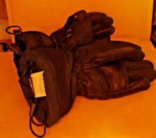 REUSCH LOVE YOUR SPPORT LEATHER/NYLON CHUNKY BLACK GLOVES SIXE 6.5