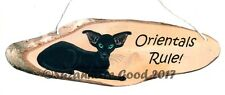 Oriental Cat rule from original painting laminated sign by Suzanne Le Good