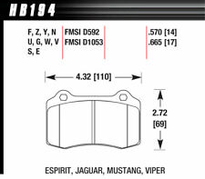 Hawk Performance HB194W.570 : Brake Pads, DTC 30, Rear, Cadillac, Chrysler, Jeep