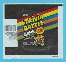 BUBBLE  GUM  WRAPPER  -  TOPPS  U.S.A. -  TRIVIA  BATTLE  GAME  -  1984