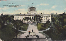 State House Shoeing Mckinley Monument Columbus Ohio Stamped 1911  # B1