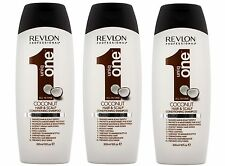 Revlon UNIQ ONE Coconut Conditioning Hair & Scalp Shampoo 300ml Pack of 3