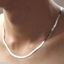 Fashion Men Women Stainless Steel Silver Curb Link Chain Necklace 18.8 inches