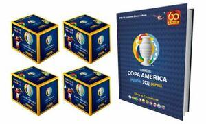 4 Cajas Selladas + Album Duro Copa America 2021 Colombia Argentina 2021 PANINI