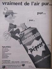PUBLICITÉ DE PRESSE 1964 BOMBE DÉSODORISANTE PÉPROR - HERVÉ MORVAN - ADVERTISING