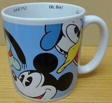 Disney Store Jumbo Character Sayings Mug w/ Mickey Donald Goofy Pluto Minnie