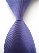 New Classic Solid Striped Purple JACQUARD WOVEN 100% Silk Men's Tie Necktie