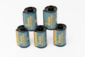 Lot of 5 Empty Vintage 1960's Kodak Ektachrome 35mm Film Cassettes Reloadable