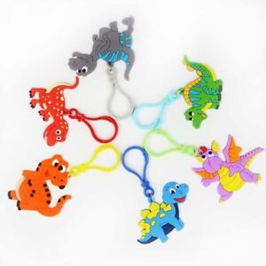 6Pcs Cute Creative Rubber keychain Party Favors Birthday Party Gifts For Kids