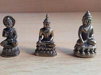 Buddah, drei kleine Mönchlein   aus  Messing