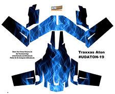 Blue Fire Traxxas Aton Plus Flames Body Wrap Decal Skin Sticker Canopy Ultrad...