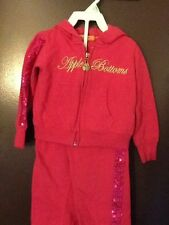 Apple Bottoms Girl Toddler 24 Months Hoodie And Pants Sequins Pink Everyday