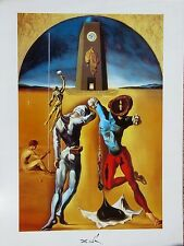 Salvador Dali•American Poems•Cosmic Athletes 1993 Surrealism Poster 24x32