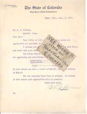 1910 B L Jefferson Denver Co Colorado Register @ State Board Land Commissioners