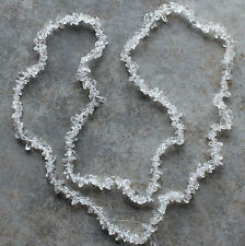"""Clear Quartz Chip Loose Beads 34"""" Strand Natural Gemstone Chips"""