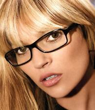 SLIM FASHION ufficio Segretaria Sexy Trasparente Rettangolo Plain occhiali Nero POSH