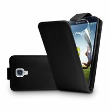 BLACK Leather Flip Case Cover Pouch for Samsung Galaxy S4 GT-i9506 Advance
