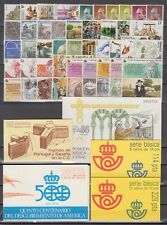 SPAIN - ESPAÑA - YEAR 1986 COMPLETE - ALL STAMPS MNH WITH MINISHEET AND CARNETS