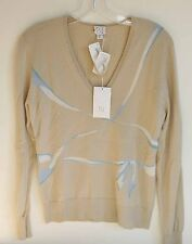 NWT  TSE Women's 100% Light Cashmere V Neck LS Sweater FS