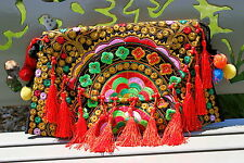 Embroidered Satchel, Fine Ethnic Shoulder Bag, Beautiful Women Handbag