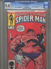 Spectacular Spider-Man #91 CGC 9.8 (1984) Black Cat & Blob Death of Unus
